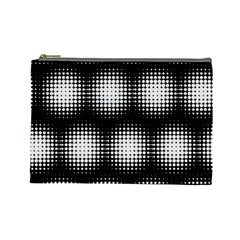 Black And White Modern Wallpaper Cosmetic Bag (large)  by Simbadda