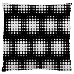Black And White Modern Wallpaper Large Cushion Case (two Sides) by Simbadda