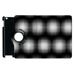 Black And White Modern Wallpaper Apple Ipad 3/4 Flip 360 Case by Simbadda