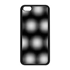 Black And White Modern Wallpaper Apple Iphone 5c Seamless Case (black) by Simbadda