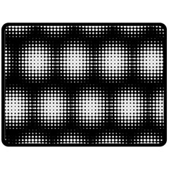 Black And White Modern Wallpaper Double Sided Fleece Blanket (large)  by Simbadda