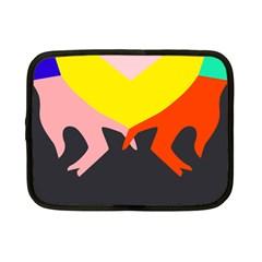 Ring Finger Romantic Love Netbook Case (small)  by Alisyart
