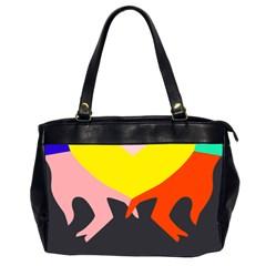 Ring Finger Romantic Love Office Handbags (2 Sides)  by Alisyart