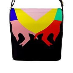 Ring Finger Romantic Love Flap Messenger Bag (l)  by Alisyart