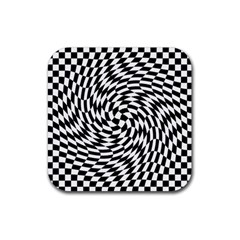 Whirl Rubber Square Coaster (4 Pack)  by Simbadda
