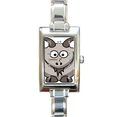 Goat Sheep Animals Baby Head Small Kid Girl Faces Face Rectangle Italian Charm Watch by Alisyart