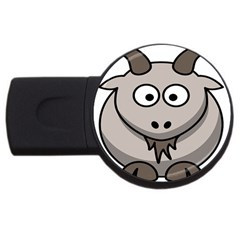 Goat Sheep Animals Baby Head Small Kid Girl Faces Face Usb Flash Drive Round (4 Gb) by Alisyart
