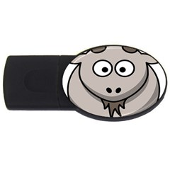 Goat Sheep Animals Baby Head Small Kid Girl Faces Face Usb Flash Drive Oval (4 Gb) by Alisyart