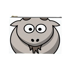 Goat Sheep Animals Baby Head Small Kid Girl Faces Face Cosmetic Bag (large)  by Alisyart