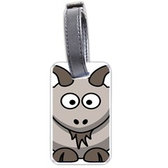 Goat Sheep Animals Baby Head Small Kid Girl Faces Face Luggage Tags (one Side)  by Alisyart