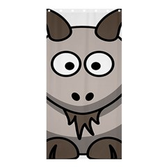 Goat Sheep Animals Baby Head Small Kid Girl Faces Face Shower Curtain 36  X 72  (stall)  by Alisyart