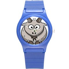 Goat Sheep Animals Baby Head Small Kid Girl Faces Face Round Plastic Sport Watch (s) by Alisyart