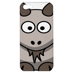 Goat Sheep Animals Baby Head Small Kid Girl Faces Face Apple Iphone 5 Hardshell Case by Alisyart