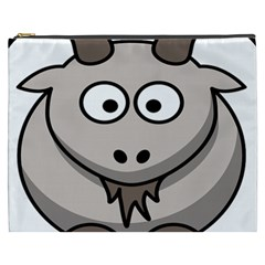 Goat Sheep Animals Baby Head Small Kid Girl Faces Face Cosmetic Bag (xxxl)  by Alisyart
