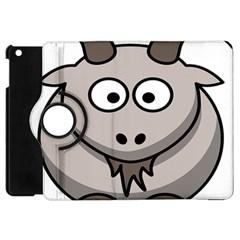 Goat Sheep Animals Baby Head Small Kid Girl Faces Face Apple Ipad Mini Flip 360 Case by Alisyart