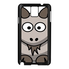 Goat Sheep Animals Baby Head Small Kid Girl Faces Face Samsung Galaxy Note 3 N9005 Case (black) by Alisyart