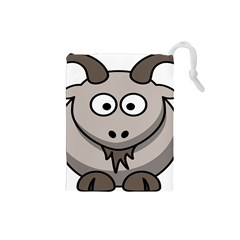 Goat Sheep Animals Baby Head Small Kid Girl Faces Face Drawstring Pouches (small)  by Alisyart