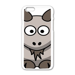 Goat Sheep Animals Baby Head Small Kid Girl Faces Face Apple Iphone 6/6s White Enamel Case by Alisyart