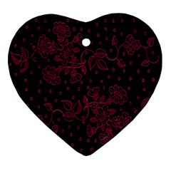 Floral Pattern Background Ornament (heart) by Simbadda