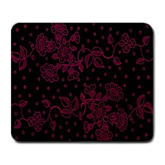 Floral Pattern Background Large Mousepads by Simbadda