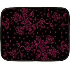 Floral Pattern Background Double Sided Fleece Blanket (mini)  by Simbadda