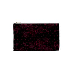 Floral Pattern Background Cosmetic Bag (small)  by Simbadda