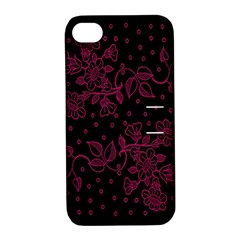 Floral Pattern Background Apple Iphone 4/4s Hardshell Case With Stand by Simbadda
