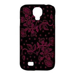 Floral Pattern Background Samsung Galaxy S4 Classic Hardshell Case (pc+silicone) by Simbadda