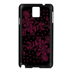 Floral Pattern Background Samsung Galaxy Note 3 N9005 Case (black) by Simbadda