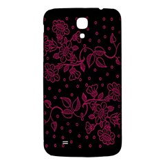 Floral Pattern Background Samsung Galaxy Mega I9200 Hardshell Back Case by Simbadda