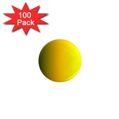 Yellow Gradient Background 1  Mini Magnets (100 Pack)  by Simbadda