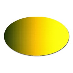 Yellow Gradient Background Oval Magnet by Simbadda