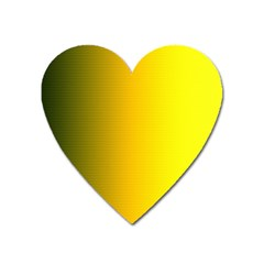 Yellow Gradient Background Heart Magnet by Simbadda