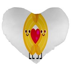 Say Pasta Love Large 19  Premium Heart Shape Cushions by Alisyart