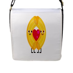 Say Pasta Love Flap Messenger Bag (l)  by Alisyart