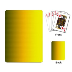 Yellow Gradient Background Playing Card by Simbadda