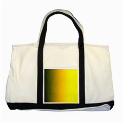 Yellow Gradient Background Two Tone Tote Bag by Simbadda