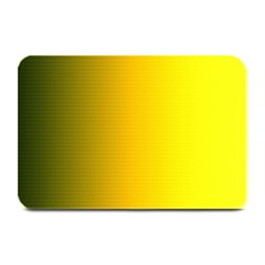 Yellow Gradient Background Plate Mats by Simbadda