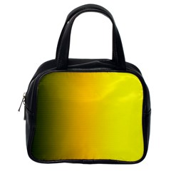 Yellow Gradient Background Classic Handbags (one Side) by Simbadda