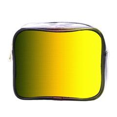 Yellow Gradient Background Mini Toiletries Bags by Simbadda