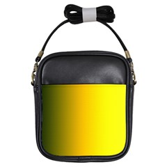 Yellow Gradient Background Girls Sling Bags by Simbadda