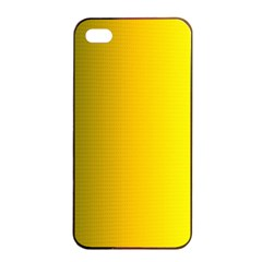Yellow Gradient Background Apple Iphone 4/4s Seamless Case (black) by Simbadda