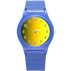 Yellow Gradient Background Round Plastic Sport Watch (s) by Simbadda