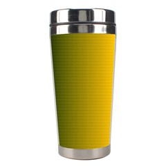 Yellow Gradient Background Stainless Steel Travel Tumblers by Simbadda