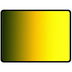 Yellow Gradient Background Double Sided Fleece Blanket (large)  by Simbadda