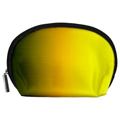 Yellow Gradient Background Accessory Pouches (large)  by Simbadda