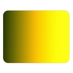 Yellow Gradient Background Double Sided Flano Blanket (large)  by Simbadda