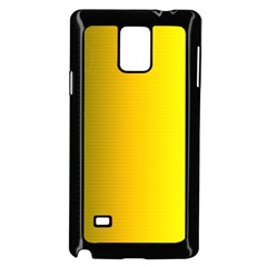 Yellow Gradient Background Samsung Galaxy Note 4 Case (black) by Simbadda