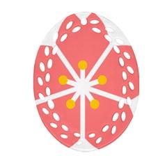 Sakura Heart Guild Flower Floral Ornament (oval Filigree) by Alisyart