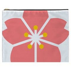 Sakura Heart Guild Flower Floral Cosmetic Bag (xxxl)  by Alisyart